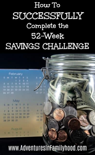 How to Complete the 52-week Savings Challenge