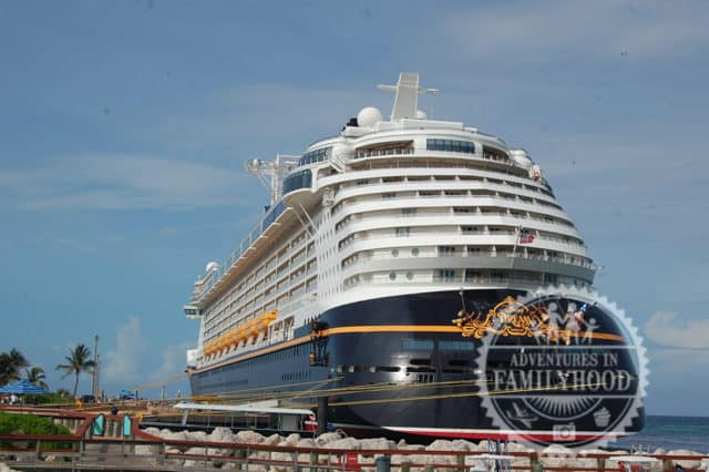 Disney Cruise Line Ship Docked at Castaway Cay