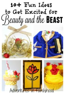 Beauty and the Beast is hitting the big screen. I've compiled a list of themed foods, crafts and experiences to get you excited for the movie.