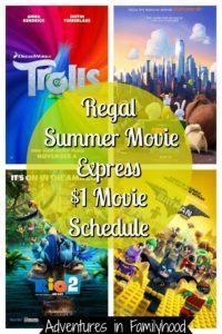 Regal Summer Movie Express Schedule