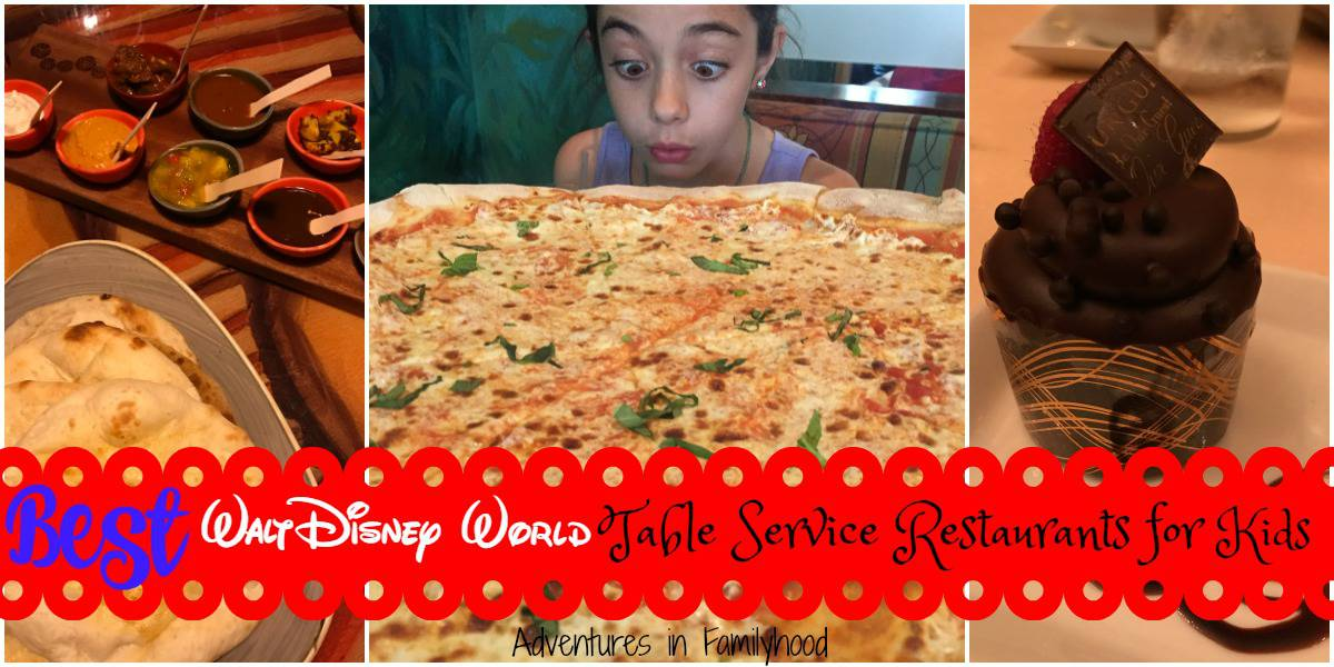 Best Walt Disney World Table Service Restaurants for Kids