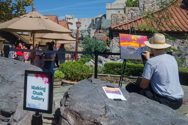 Walking Chalk Gallery at Epcot International Festival of the Arts