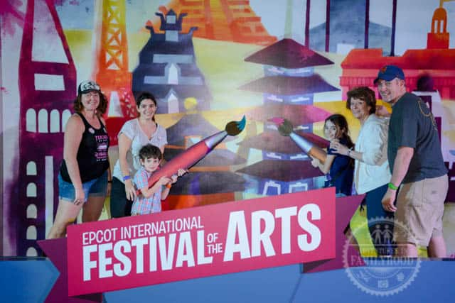 Epcot International Festival of the Arts Paintbrush Photo Op