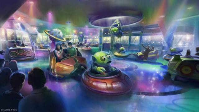 Alien Spinning Saucers Toy Story Land