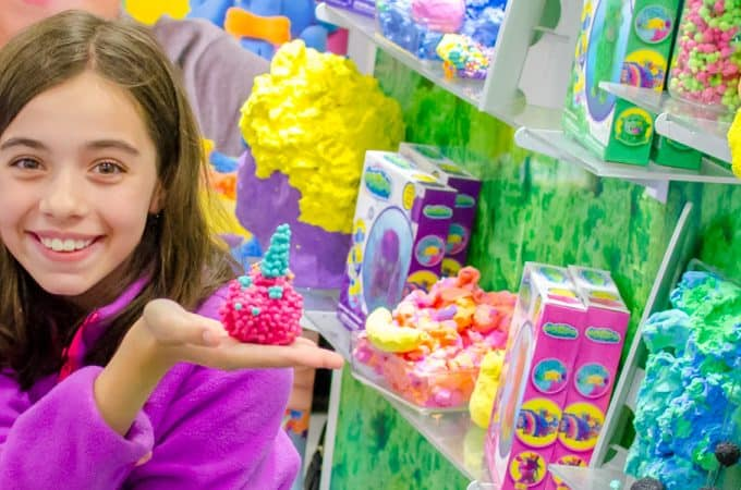 Bella playing with Orb tween toys at Play Fair