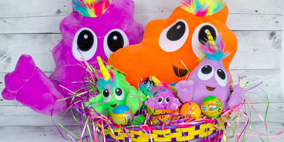 Poonicorns Easter Basket Full of Plushiez Droplings Squishiez