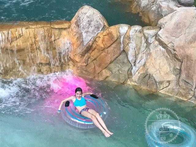 Bella in Lazy River at Aquatopia Camelback Resort