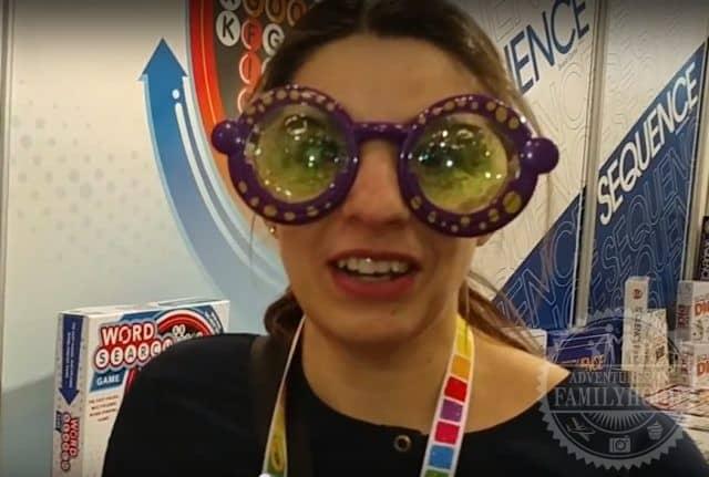 Lisa wearing Googly Eyes