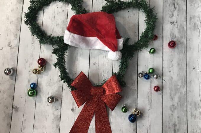 Easy Santa Mickey Wreath