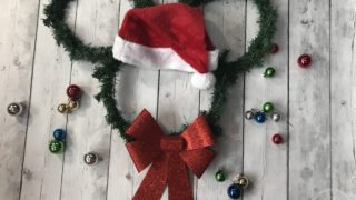 Easy Dollar Store Santa Mickey Wreath