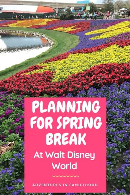 Guide to handling crowds, must do attractions and packing advice for Spring Break at Walt Disney World.