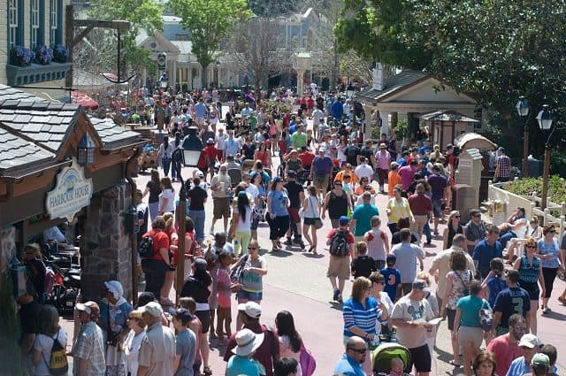 Spring Crowd at Magic Kingdom in Disney World