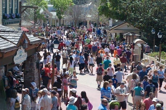 Spring Crowd at Magic Kingdom in Disney World
