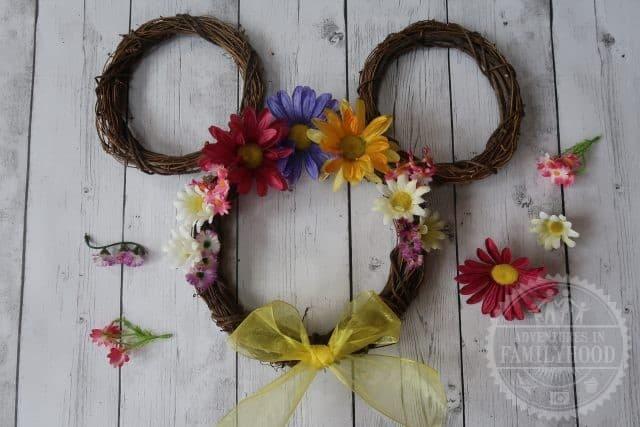 Springtime Mickey Flower Wreath