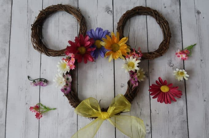 Springtime Mickey Flower Wreath