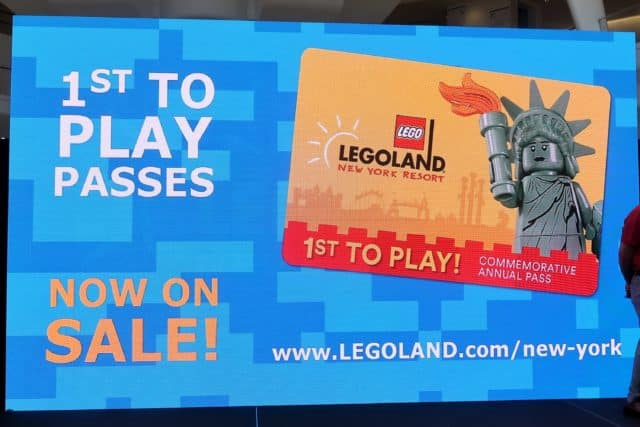 LEGOLAND New York First to Play Pass