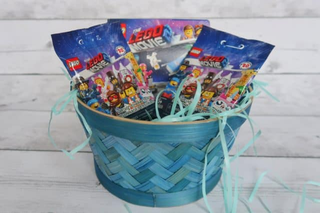 LEGO Movie 2 Easter Basket filled with minifigure blind bags