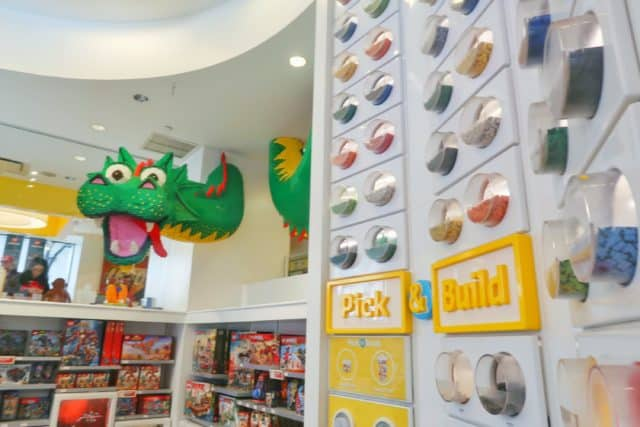 Different color and size LEGO bricks to choose from to fill your Pick-A-Brick container at the LEGO store