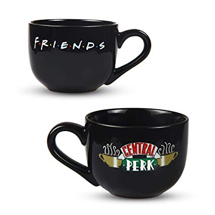 PuGez for Friends Central Perk Latte Coffee Mug Black 16oz