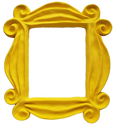 Yellow Friends Frame Peephole Door Frame Resin Handmade