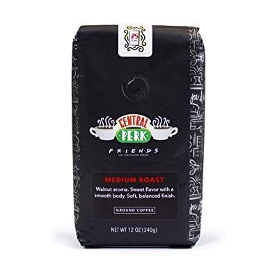 Friends 25th Anniversary Limited Edition Central Perk Medium Roast Ground Coffee 12 oz Bag