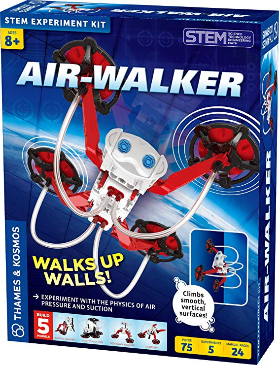 Air-Walker Gravity-Defying Wall-Walking Robot