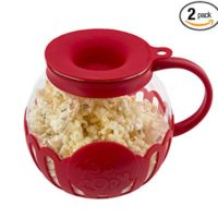 Ecolution EKPRE-4215 Micro-Pop Glass Popcorn Popper-Maker Large, 1.5 Qt-Snack Size, Eco-Friendly, Red