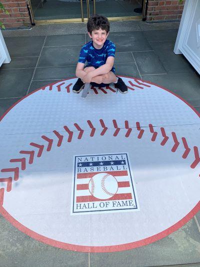 kid outside baseball hall of fame