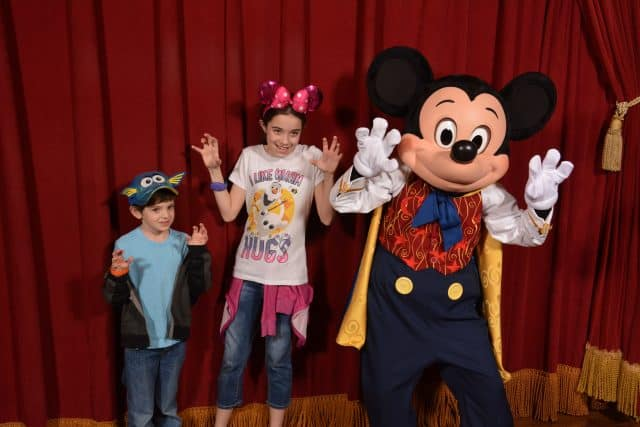Bella and Jackson Meet Mickey Mouse at Disney World