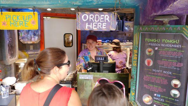 Lisa ordering one of the best animal kingdom snacks at Pongu Pongu