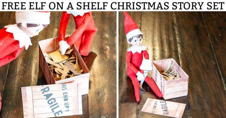 Christmas Story Elf on a Shelf – Free Printable Set