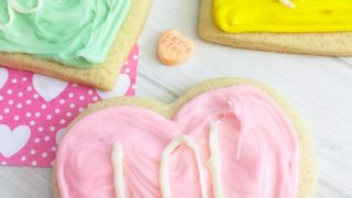 Valentines Day Conversation Heart Cookies
