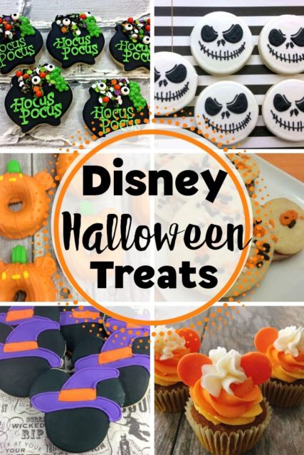 A collection of Disney themed treats for Halloween