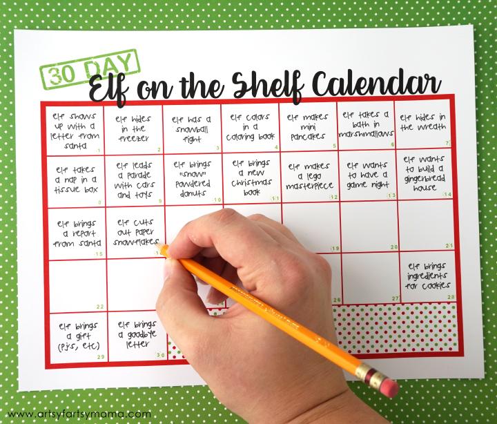 Elf on the Shelf Ideas with Free Printable Calendar