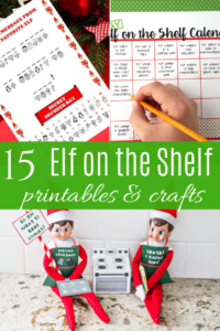 elf on the shelf printables and crafts