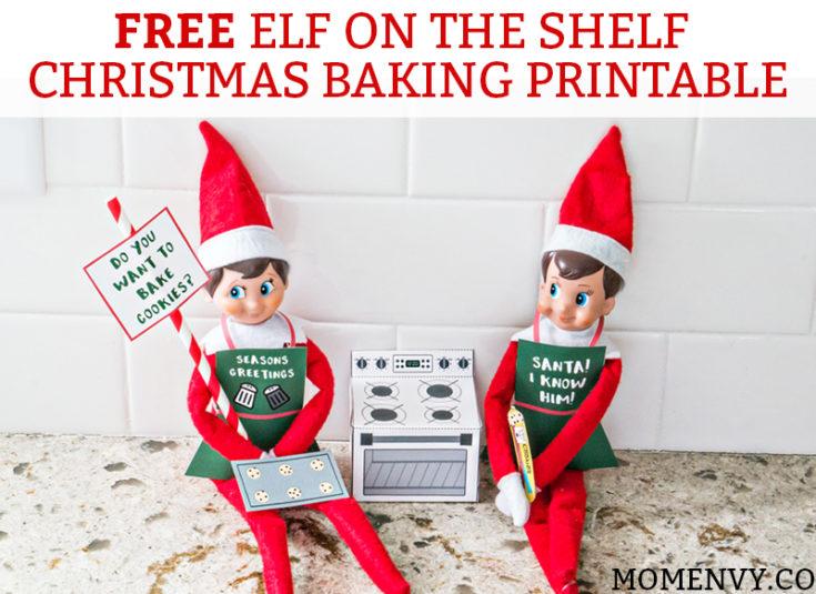 Free Elf on the Shelf Christmas Baking Printable Set – Christmas Cookies