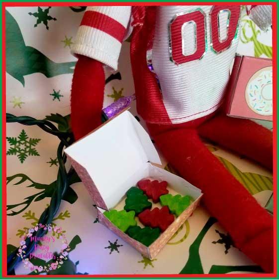 Elf on the Shelf Printable Donut Boxes |