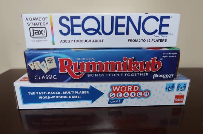 Sequence, Rummikub and Word Search