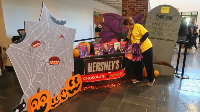 Hershey's Trick or Treat Adventure at Hershey's Chocolate World first stop