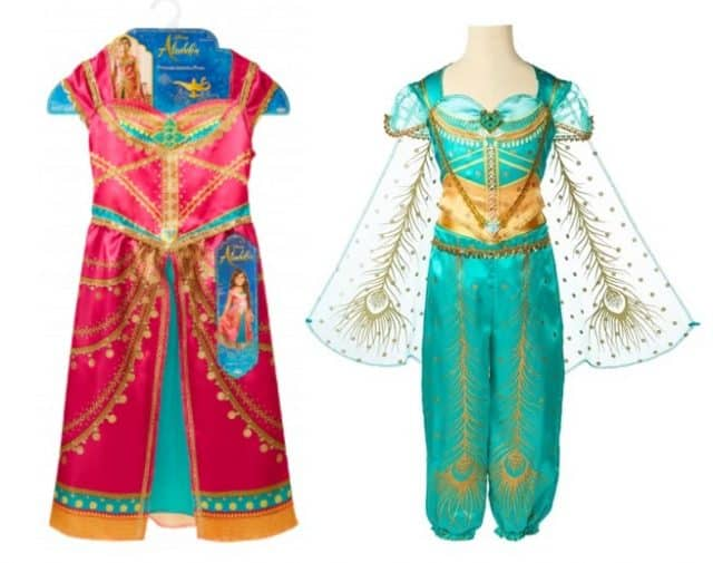 two new jasmine outfits from the new Aladdin movie