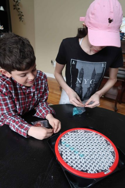 Kids playing Word Search