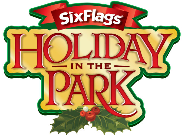 six flags holiday in the park logo