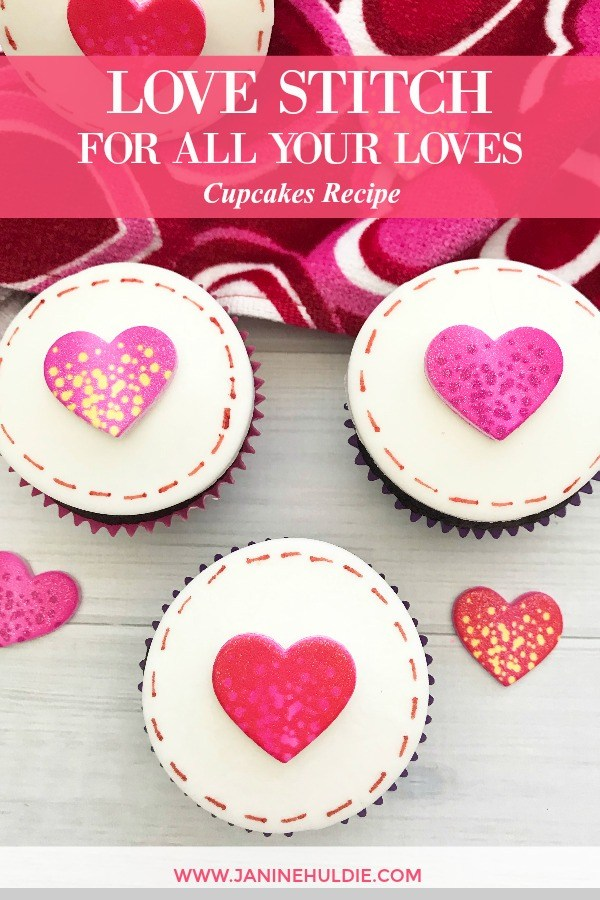 Love Stitch Cupcakes for All Your Loves Recipe Tutorial