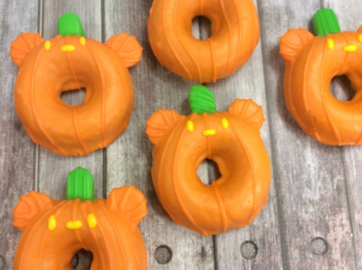 Halloween Mickey Pumpkin Donuts
