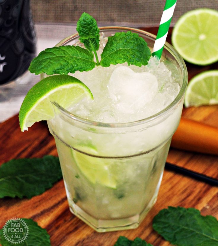 Non Alcoholic Mojito, great party mocktail!