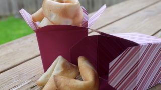 Homemade Fortune Cookies {+ Take-out Box DIY & Printable Fortunes}