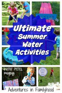 Summer water activities for kids