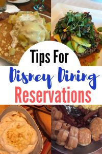 disney dining reservations tips