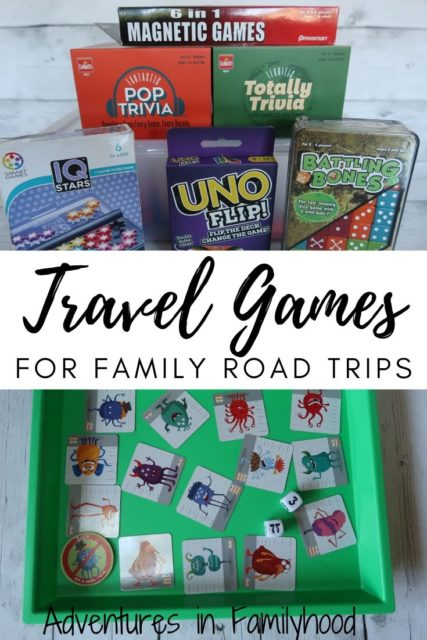 travel games for family road trips