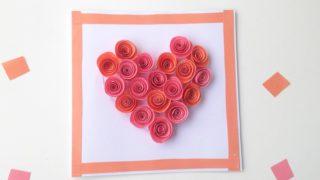 DIY Valentine's Day Rose Filled Heart Card